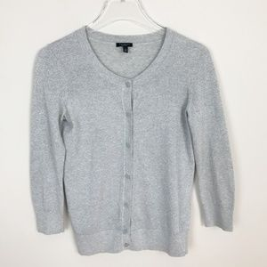 Talbots Silver Cardigan Sweater Size X-Small